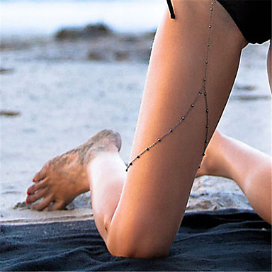 للمرأة مجوهرات الجسم Fotlenke سلسلة موضة نحاس غير منتظم مجوهرات من أجل فضفاض الرياضة