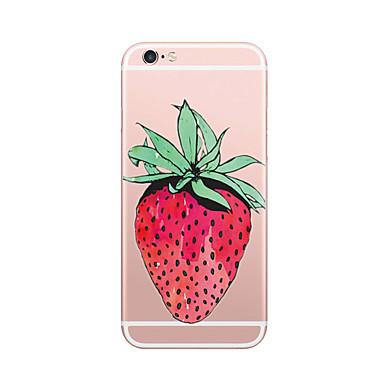 Hülle Für iPhone 7 iPhone 7 plus iPhone 6s Plus iPhone 6 Plus iPhone 6s iPhone 6 iPhone 5 Apple Ultra dünn Muster Rückseite Frucht Weich
