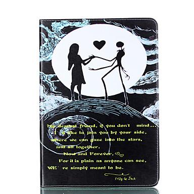 Hülle Für Apple iPad 4/3/2 Kreditkartenfächer Geldbeutel mit Halterung Flipbare Hülle Magnetisch Muster Ganzkörper-Gehäuse Herz Sexy Lady