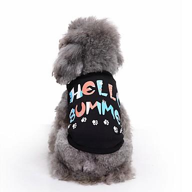 Katze Hund T-shirt Weste Hundekleidung Niedlich Lässig/Alltäglich Modisch Buchstabe & Nummer Schwarz Kostüm Für Haustiere