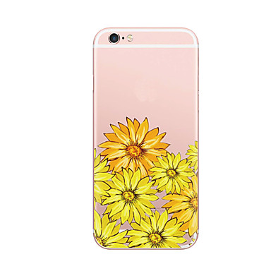 غطاء من أجل Apple نحيف جداً نموذج غطاء خلفي زهور ناعم TPU إلى iPhone 7 Plus iPhone 7 iPhone 6s Plus iPhone 6 Plus iPhone 6s iPhone 6