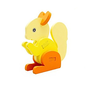 3D-puzzels Steekpuzzels Speeltjes Eekhoorn Hout Unisex Stuks
