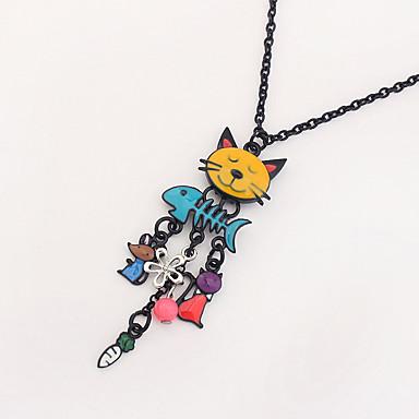 Damskie Naszyjniki z wisiorkami Kot Stop Modny euroamerykańskiej biżuteria kostiumowa Biżuteria Na Codzienny
