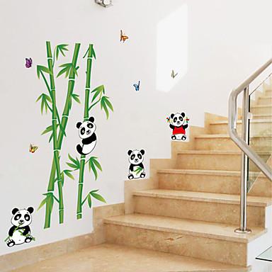 Tiere Cartoon Design Botanisch Wand-Sticker Flugzeug-Wand Sticker Dekorative Wand Sticker, Papier Haus Dekoration Wandtattoo Wand Glas /