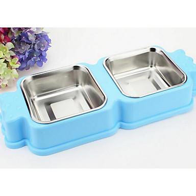 Câine alimentatoare boluri de companie&Hrănire roșie roz albastru