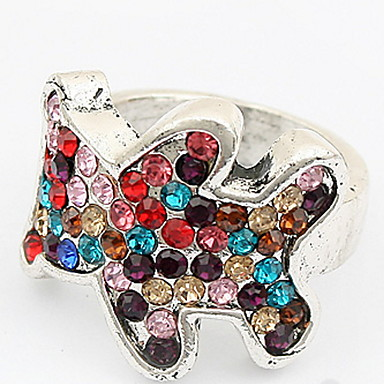 للرجال للمرأة خواتم حزام خاتم حجر الراين مخصص تصميم فريد ستايل الشعار تصميم الحيوانات كلاسيكي قديم بوهيميان أساسي الصداقة موضة الولايات