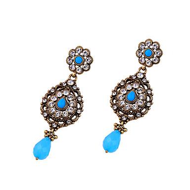 Kolczyki koła Kryształ Godny podziwu Osobiste Słodkie Style euroamerykańskiej Niebieski Biżuteria Na Ślub Impreza Urodziny 1 para