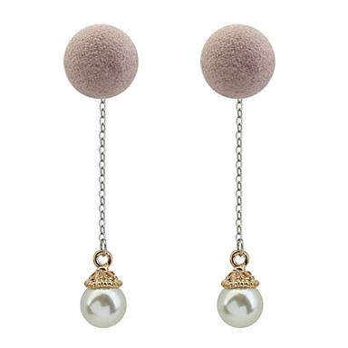 Pentru femei Cercei Picătură Imitație de Perle Euramerican Modă Cooper Rotund Bijuterii Casual