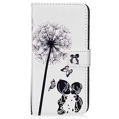 Недорогие Чехлы и кейсы для Galaxy S6-Кейс для Назначение SSamsung Galaxy S8 Plus / S8 / S7 edge Кошелек / Бумажник для карт / со стендом Чехол одуванчик Твердый Кожа PU