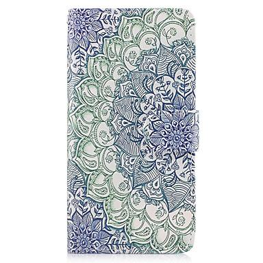 غطاء من أجل Samsung Galaxy حامل البطاقات محفظة مع حامل قلب غطاء كامل للجسم ماندالا نمط قاسي جلد PU إلى On7(2016) On5(2016) Grand Prime