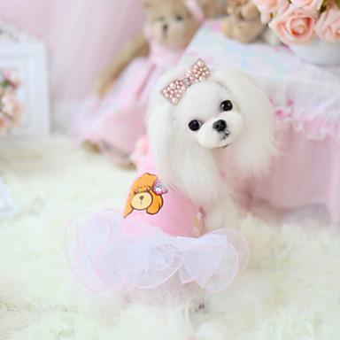 كلب الفساتين ملابس الكلاب كاجوال/يومي موضة كارتون كوستيوم للحيوانات الأليفة