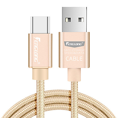 USB 2.0 Type-C Împletit Cablu Pentru Samsung Huawei Sony Nokia HTC Motorola LG Lenovo Xiaomi cm Nailon