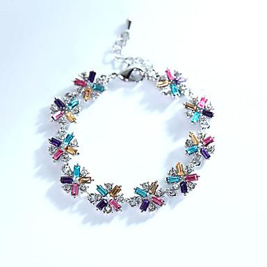 Dames Armbanden met ketting en sluiting Sieraden Natuur Modieus Vintage Met de hand gemaakt Kristal Legering Rechthoekige vorm Sieraden