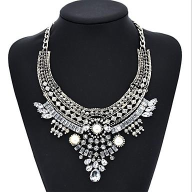 Pentru femei Diamant sintetic Coliere Choker - Aur roz, Imitație de Perle, Diamante Artificiale Prieteni Personalizat, Clasic, Vintage Argintiu / negru, Rose Gold + negru Coliere Pentru Cadouri de