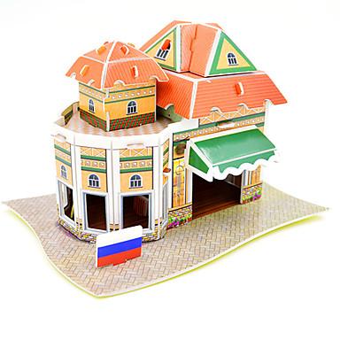 بانوراما الألغاز قطع تركيب3D اللبنات DIY اللعب معمارية ورق ألعاب البناء و التركيب