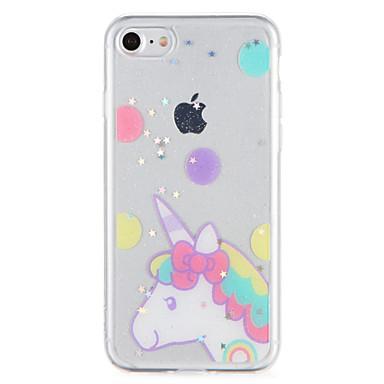 Voor Hoesje cover Patroon Achterkantje hoesje Eenhoorn Glitterglans Zacht TPU voor AppleiPhone 7 Plus iPhone 7 iPhone 6s Plus iPhone 6