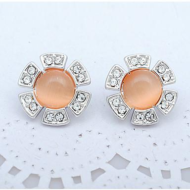 Damen Ohrring Synthetischer Opal Personalisiert Einzigartiges Design Modisch Euramerican Synthetische Edelsteine Aleación Runde Form