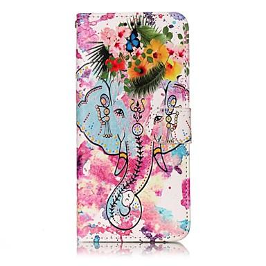 hoesje Voor Samsung Galaxy S8 Plus S8 Portemonnee Kaarthouder met standaard Flip Patroon Magnetisch Volledige behuizing Olifant Hard