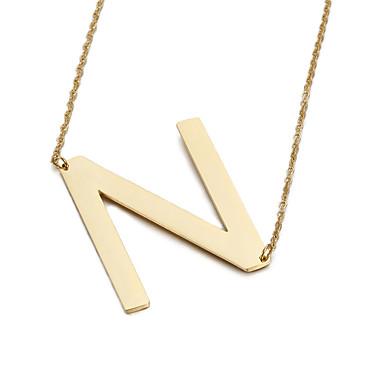 Dames Hangertjes ketting Alfabetvorm Roestvast staal Vriendschap Modieus Initial Jewelry Sieraden Voor Feest Verjaardag Dagelijks Causaal
