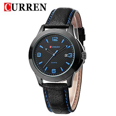 Bărbați Ceas Sport Ceas Elegant  Ceas La Modă Ceas de Mână Unic Creative ceas Chineză Quartz Calendar Rezistent la Apă Mare Dial Piele