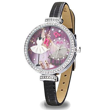 Dames Modieus horloge Kwarts Digitaal Waterbestendig PU Band Zwart