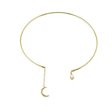 여성용 초커 목걸이 - 베이직 골드 목걸이 보석류 제품 캐쥬얼