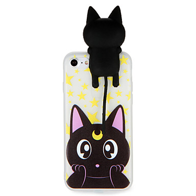 Geval voor apple iphone 7 7plus 3d cartoon schattig katoen patroon zacht tpu materiaal back cover voor iphone 6s plus 6 plus 6s 6