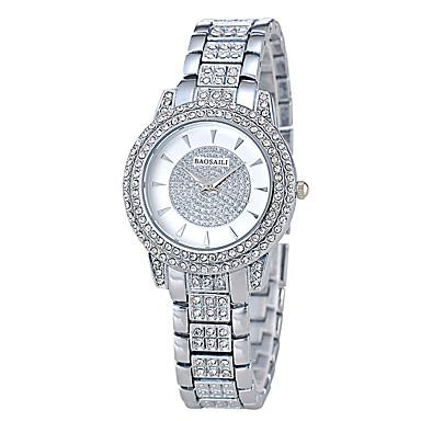 Dames Modieus horloge Pavé horloge Kwarts 18 Karaats Verguld Band Luxueus Zilver Goud Goud Rose