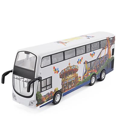 Jucării pentru mașini Camion Jucarii Simulare Muzică și lumină Autobuz Autobuz cu etaj Aliaj Metalic MetalPistol Bucăți Pentru copii