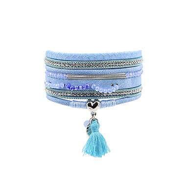 Dames Lederen armbanden Sieraden Modieus Bohemia Style Turks Leder Sieraden Voor Bruiloft Feest Speciale gelegenheden  Verjaardag