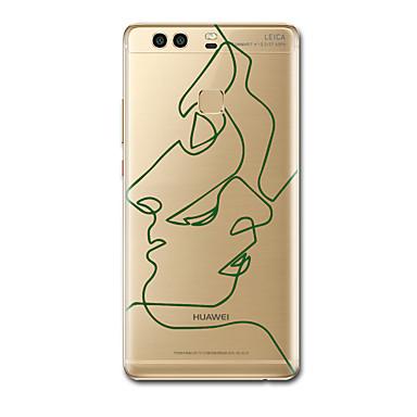 Maska Pentru Huawei Ultra subțire Model Carcasă Spate Model Geometric Moale TPU pentru P10 Plus P10 P9 Lite P9 Plus P8 P8 Lite P7