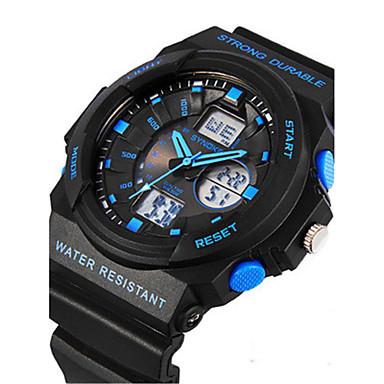 Heren Digitaal horloge Polshorloge Modieus horloge Digitaal Rubber Band Zwart
