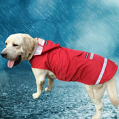 cheap Dog Clothing & Accessories-Cat Dog Hoodie Rain Coat Dog Clothes Solid Colored Red Blue Oxford cloth Terylene Costume For Spring &  Fall Summer Men's Women's Casual / Daily Waterproof