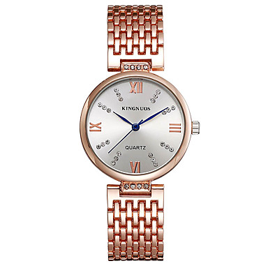 KINGNUOS Damen Modeuhr Armbanduhr Einzigartige kreative Uhr Armbanduhren für den Alltag Quartz Legierung BandBettelarmband Cool Bequem