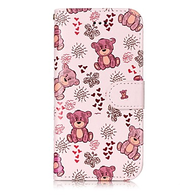 Pentru Apple iPhone 7 7 plus 6s 6 plus se 5s 5 carcasă caz acoperă model strălucire pu puț material carte stent portofel telefon caz