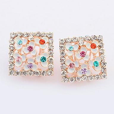 Dames Oorknopjes Druppel oorbellen Ring oorbellen Synthetische Diamant Basisontwerp Uniek ontwerp Logostijl Bergkristallen Meetkundig