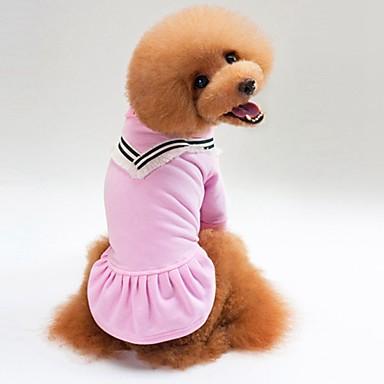 Katze Hund T-shirt Pullover Hundekleidung Lässig/Alltäglich Solide Schwarz Rosa Kostüm Für Haustiere