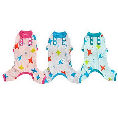 Hond Pyjama Hondenkleding Casual/Dagelijks Sterren Groen Roze Lichtblauw Licht Groen