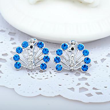 Pentru femei Cercei - Ștras Personalizat, Modă, Euramerican Albastru / Albastru Deschis / Curcubeu Pentru Nuntă / Petrecere / Aniversare