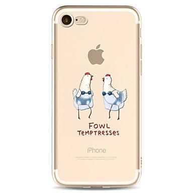 Maska Pentru Apple Transparent Model Carcasă Spate Desene Animate Moale TPU pentru iPhone 7 Plus iPhone 7 iPhone 6s Plus iPhone 6 Plus