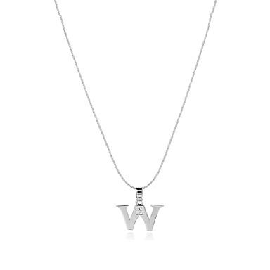 Bărbați Pentru femei Alphabet Shape Formă Stil Logo Boem SUA Bijuterii Statement Confecționat Manual Balanța de putere Coliere cu Pandativ
