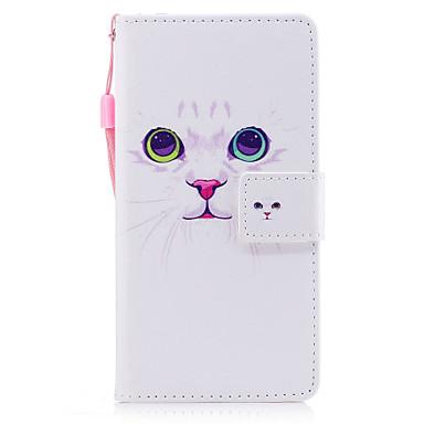 Maska Pentru Huawei Titluar Card Portofel Cu Stand Întoarce Magnetic Model Carcasă Telefon Pisica Greu PU piele pentru P10 Plus P10 Lite