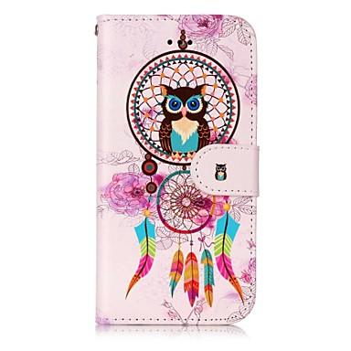 Hülle Für Apple iPhone 7 Plus iPhone 7 Kreditkartenfächer Geldbeutel mit Halterung Flipbare Hülle Magnetisch Muster Geprägt