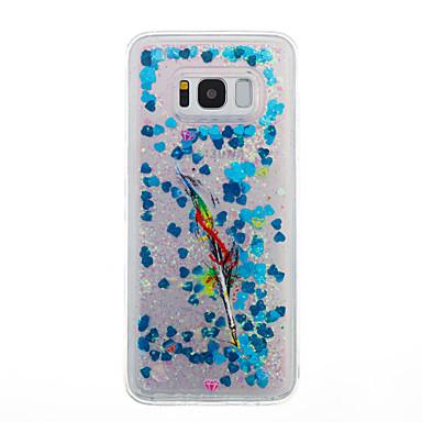 غطاء من أجل Samsung Galaxy S8 Plus S8 سائل متدفق شفاف نموذج غطاء خلفي شفاف الريش بريق لماع ناعم TPU إلى S8 S8 Plus S7 edge S7 S6 edge S6