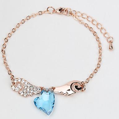 Dames Armbanden met ketting en sluiting Sieraden Vintage Natuur Modieus Met de Hand Gemaakt Kristal Legering Ronde vorm Sieraden Voor