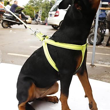 Câine Hamuri Lese Reflexiv Portabil Respirabil Siguranță Ajustabile Mată Nailon Portocaliu Galben Trandafiriu Verde