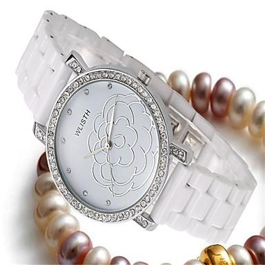 Dames Modieus horloge Kwarts Keramiek Band Vrijetijdsschoenen Wit