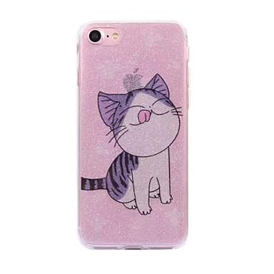 Pentru Apple iphone 7 7plus caz cove model pisica flash praf imd proces tpu material caz telefon iphone 6 6s plus se 5s 5