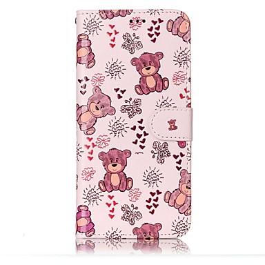 hoesje Voor Samsung Galaxy S8 Plus S8 Kaarthouder Portemonnee met standaard Flip Magnetisch Patroon Reliëfopdruk Volledig hoesje Cartoon