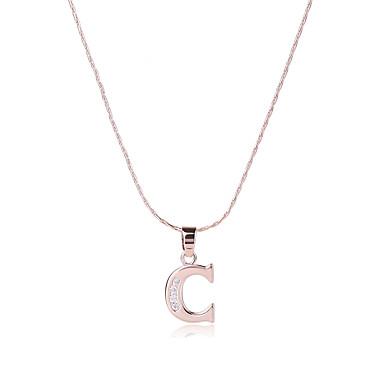 Bărbați / Pentru femei Alphabet Shape Zirconiu Cubic Aur roz / Zirconiu Coliere cu Pandativ - Design Unic / Stil Atârnat / SUA Auriu